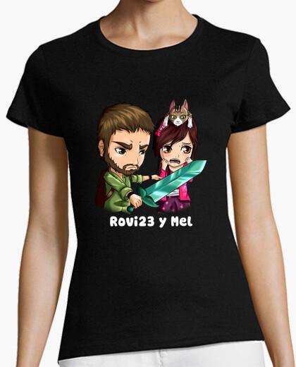 Tee-shirt rovi23 & mel. manches courtes. femme