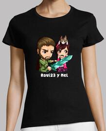 rovi23 & mel with qr back. short sleeve. woman