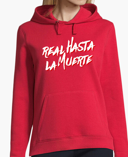 Royal sweatshirt until death red for girl (white letters) hoodie