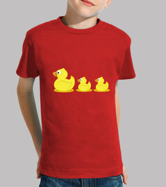 rubber ducks child, short sleeve, red