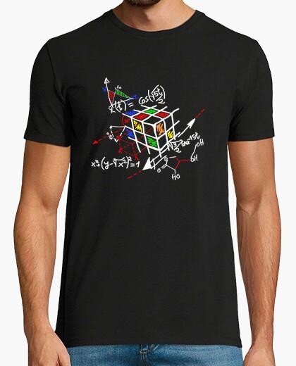T-shirt rubik contorno nero