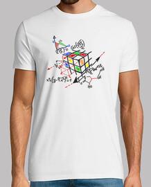 rubik cube black outline