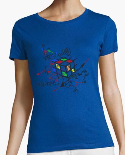 Rubik cube black outline t-shirt