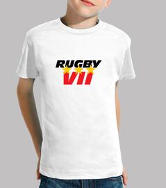 rugby camisa de manga corta niño, blanco