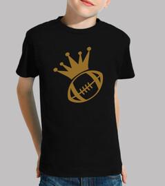 rugby camisa de manga corta niño, negro