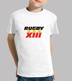 rugby shirt child short sleeve, white