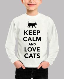 Ruhe bewahren und Katzen liebhaben