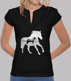 ruhiges pferd - camiseta chica