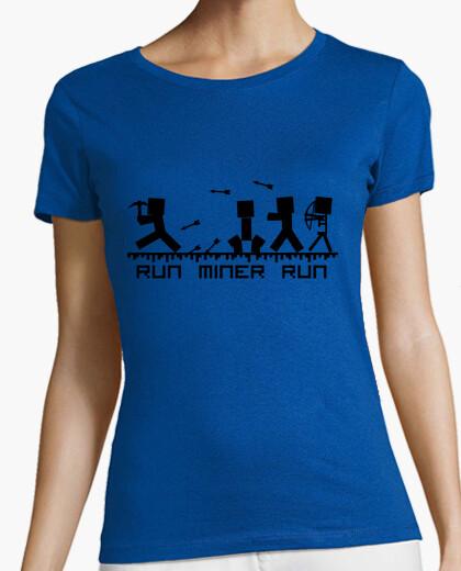 Camiseta Run miner run   Texto