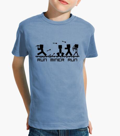 Ropa infantil Run miner run   Texto