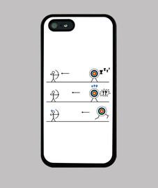 Cover iPhone XS Max tiro con larco bersaglio - caleidoscopio 1 Le