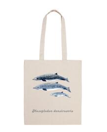 sac à bandoulière baleine à bec de blainville