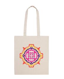 sac à main multicolore mandala