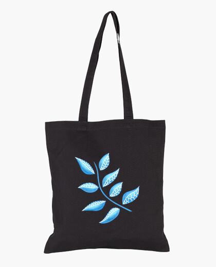 Sac Abstrait botanique jolie plante bleue