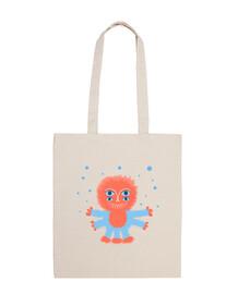 sac alien drôle floconneux