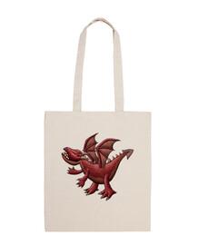 sac bandoulière dragon rouge