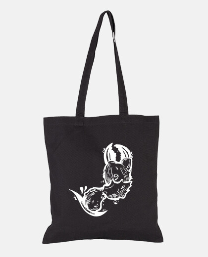sac blanc crabe