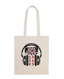 sac de casques de musique vintage retro
