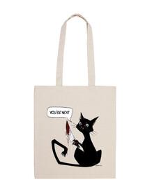 sac de chat tueur noir