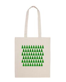SAC DE PLAGE CHRISTMAS TREES GREEN
