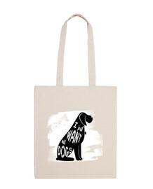 sac en coton avec chien | je veux juste all chiens