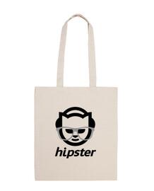 sac en coton noir hipster
