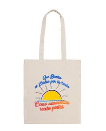 sac en tissu 100% coton qui est jolie cadix dans l'après-midi
