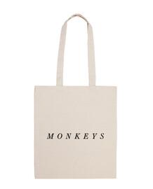 sac en tissu 100% coton, singes arctiques