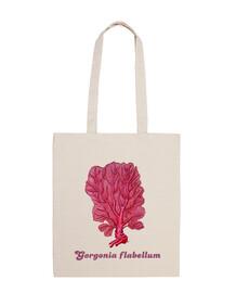 sac en tissu de corail rouge venus (gorgone flabellum)