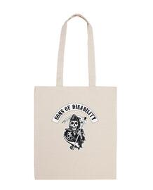 sac en tissu fils de handicap
