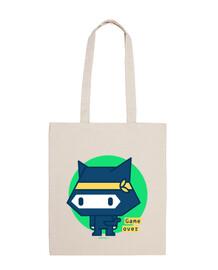 sac en tissu ninja chat