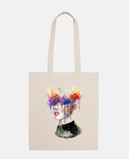 sac explosion d'aquarelle