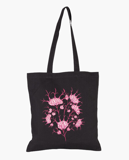 Sac fleurs roses décoratif floral