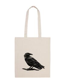 sac géométrique corbeau