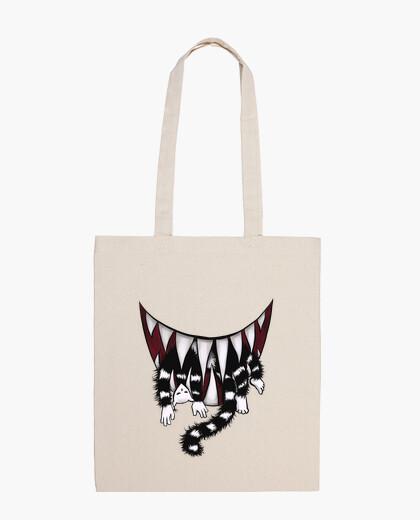 Sac mangeur de chat monstre dents pointues