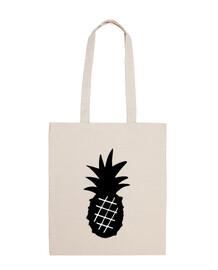 Sac Tote bag ananas noir