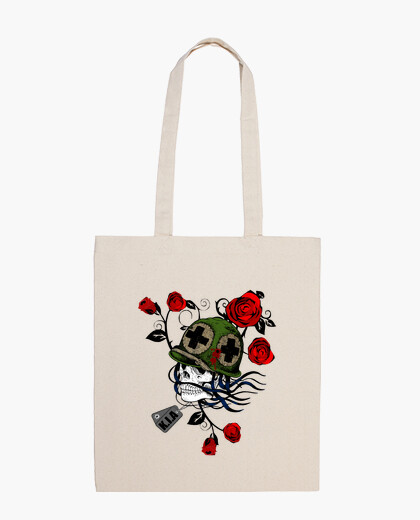 Sac Tribal Skull With Helmet And Roses