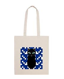 sacchetto del gatto nero di halloween