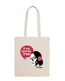sacchetto di tela fiori di lola: se vuoi andartene!