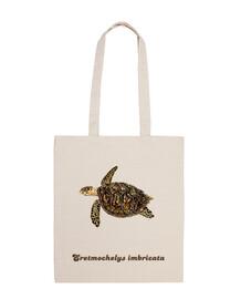 sacs en tissu tortue imbriquée (eretmochelys imbricata)
