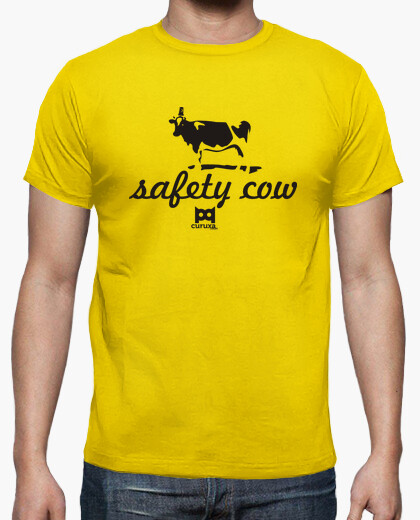 Safety cow camiseta amarilla