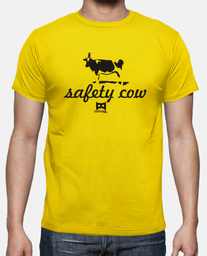 Camisetas Safety cow camiseta amarilla