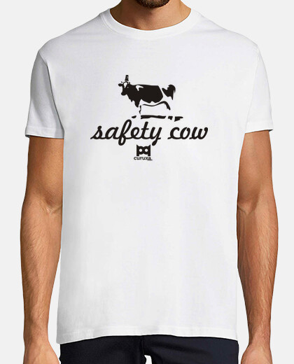 Camisetas Safety cow camiseta blanca