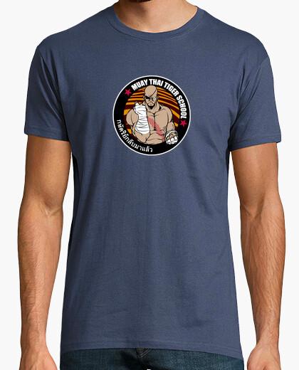 Camiseta Sagat - Muay Thai Tiger School (color)