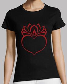 Sagrado corazón y flor de loto