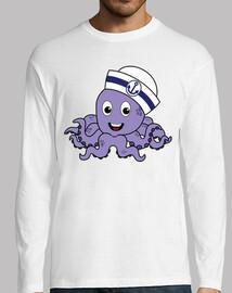 Sailor Octopus - Long Sleeve Man