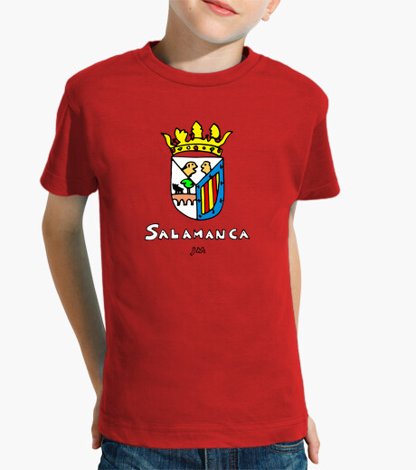 Salamanca shield drawn with text kids clothes