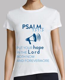salmo 131 mujer blanca en forma periódica camiseta