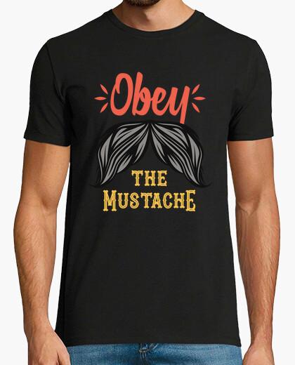 Tee-shirt salon de coiffure rétro moustache