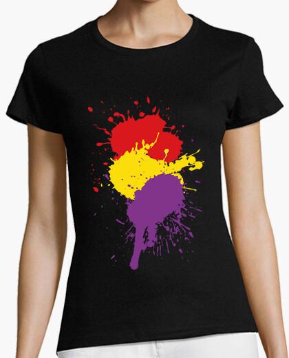 Camiseta Salpicaduras República Española (Mujer)